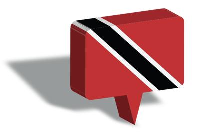 トリニダード・トバゴ共和国の国旗-マップピン