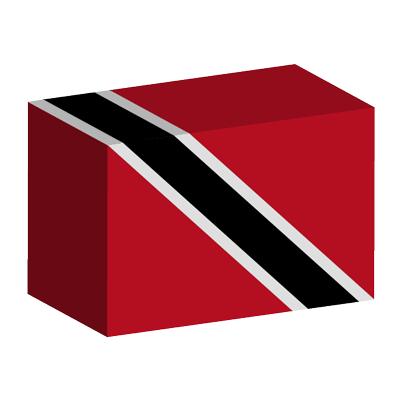 トリニダード・トバゴ共和国の国旗-積み木