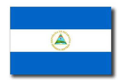ニカラグア共和国の国旗-ドロップシャドウ
