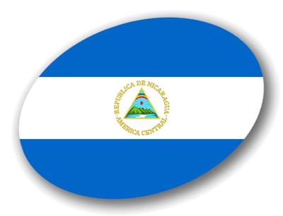 ニカラグア共和国の国旗-楕円