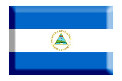 ニカラグア共和国の国旗-板チョコ