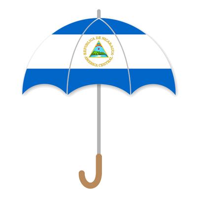 ニカラグア共和国の国旗-傘