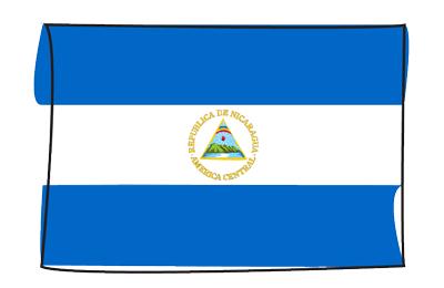ニカラグア共和国の国旗-グラフィティ