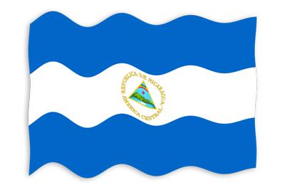 ニカラグア共和国の国旗-波