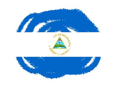 ニカラグア共和国の国旗-クラヨン2