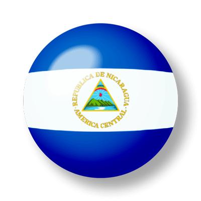 ニカラグア共和国の国旗-ビー玉