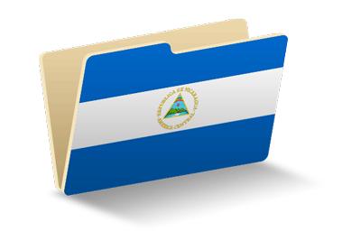 ニカラグア共和国の国旗-フォルダ