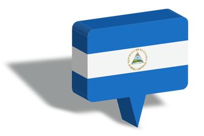 ニカラグア共和国の国旗-マップピン