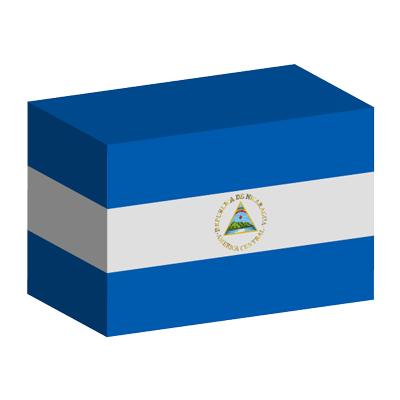 ニカラグア共和国の国旗-積み木