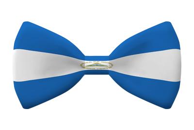 ニカラグア共和国の国旗-蝶タイ