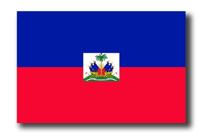 ハイチ共和国の国旗-ドロップシャドウ