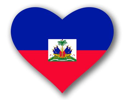 ハイチ共和国の国旗-ハート
