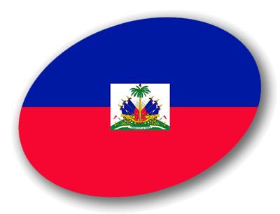 ハイチ共和国の国旗-楕円