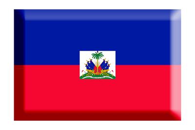 ハイチ共和国の国旗-板チョコ