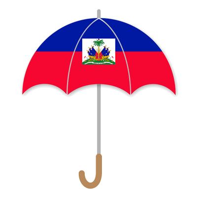 ハイチ共和国の国旗-傘