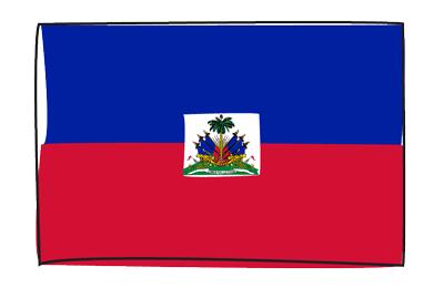 ハイチ共和国の国旗-グラフィティ