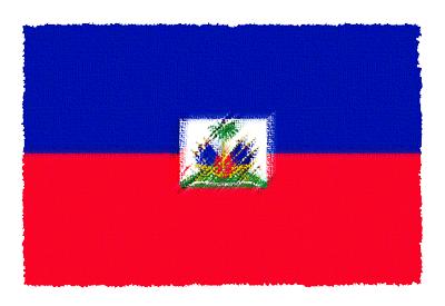 ハイチ共和国の国旗-パステル