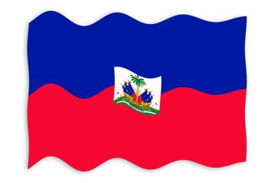ハイチ共和国の国旗-波