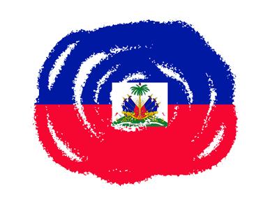 ハイチ共和国の国旗-クラヨン2