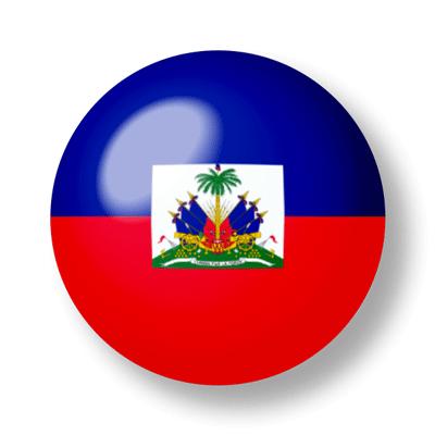 ハイチ共和国の国旗-ビー玉