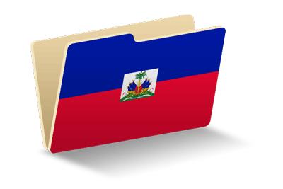 ハイチ共和国の国旗-フォルダ