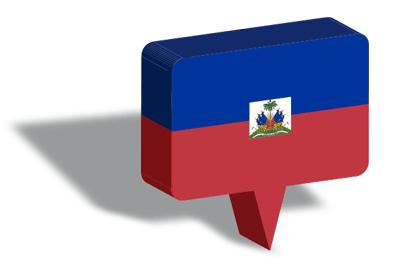 ハイチ共和国の国旗-マップピン