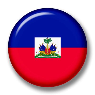 ハイチ共和国の国旗-缶バッジ