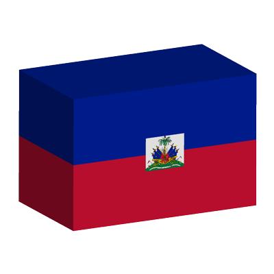 ハイチ共和国の国旗-積み木