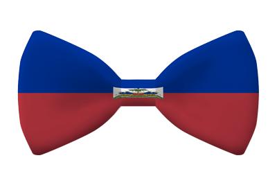 ハイチ共和国の国旗-蝶タイ
