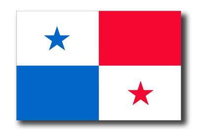 パナマ共和国の国旗-ドロップシャドウ