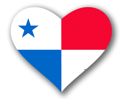 パナマ共和国の国旗-ハート