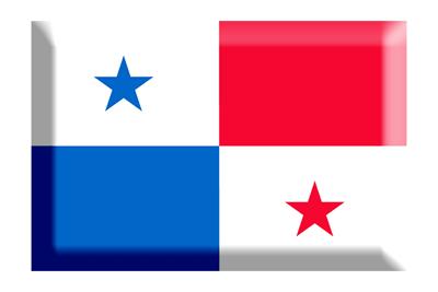 パナマ共和国の国旗-板チョコ