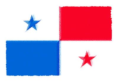 パナマ共和国の国旗-パステル
