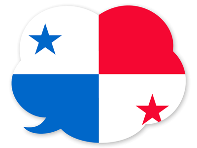 パナマ共和国の国旗-吹き出し