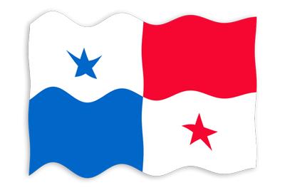 パナマ共和国の国旗-波