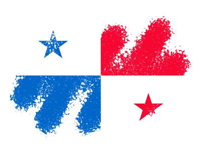 パナマ共和国の国旗-クレヨン1