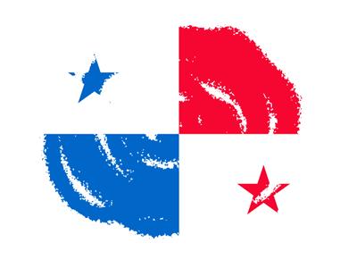 パナマ共和国の国旗-クラヨン2