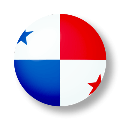 パナマ共和国の国旗-ビー玉
