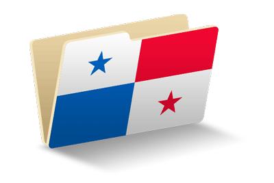 パナマ共和国の国旗-フォルダ