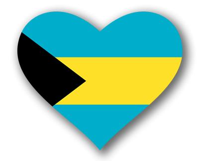 バハマ国の国旗-ハート