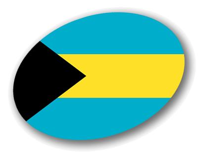 バハマ国の国旗-楕円