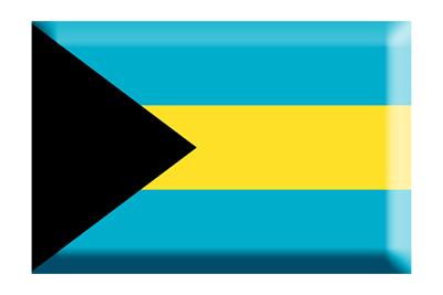 バハマ国の国旗-板チョコ