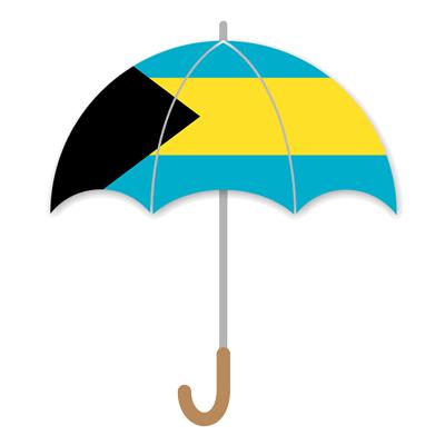 バハマ国の国旗-傘