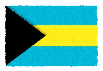バハマ国の国旗-パステル