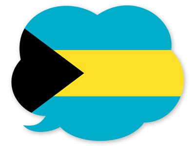 バハマ国の国旗-吹き出し