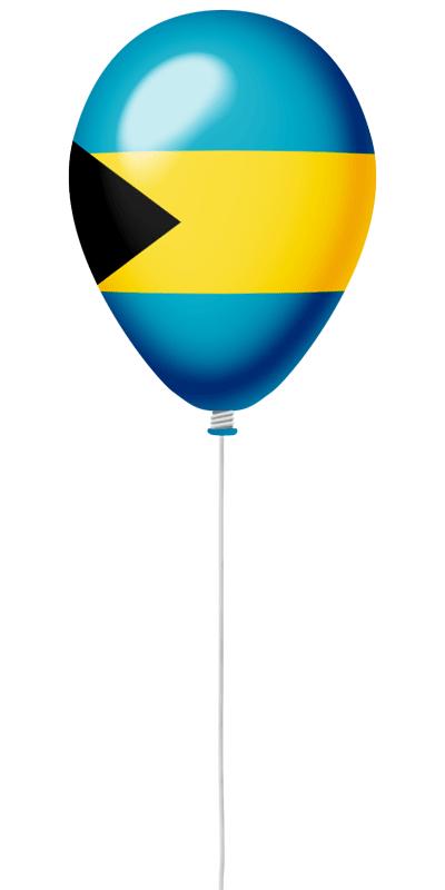 バハマ国の国旗-風せん
