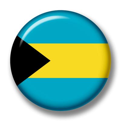 バハマ国の国旗-缶バッジ