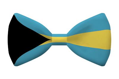 バハマ国の国旗-蝶タイ