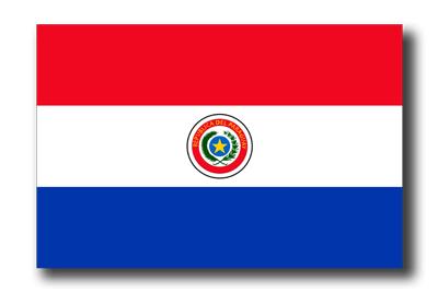 パラグアイ共和国の国旗-ドロップシャドウ