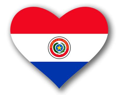 パラグアイ共和国の国旗-ハート
